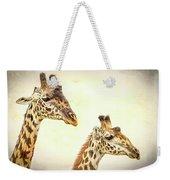 A Perfect Pair- Masai Giraffe Weekender Tote Bag