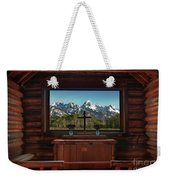 A Pew With A View Weekender Tote Bag