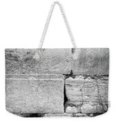 A Piece Of The Wailing Wall In Black And White Weekender Tote Bag