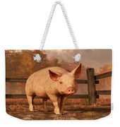 A Pig In Autumn Weekender Tote Bag