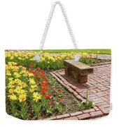 A Place To Sit By The Flowers Weekender Tote Bag