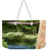 A Pond Reflection Weekender Tote Bag