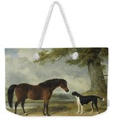 A Pony With A Dog Weekender Tote Bag