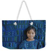 A Portrait Of A Guatemalan Girl Weekender Tote Bag