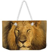 A Portrait Of A Male Weekender Tote Bag