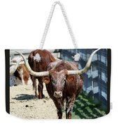 A Portrait Of A Texas Longhorn Steer Weekender Tote Bag