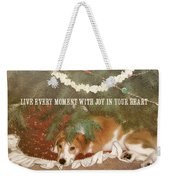 A Puppy For Christmas Quote Weekender Tote Bag