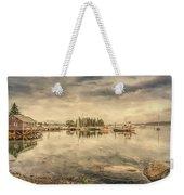 A Quiet Little Harbor Weekender Tote Bag