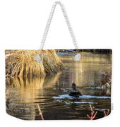 A Quiet Morning Swim Weekender Tote Bag