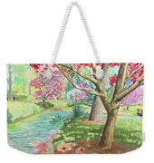 A Quiet Stroll In The Japanese Gardens Of Gibbs Gardens Weekender Tote Bag