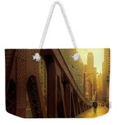 A Quiet Sunday Morning In Chicago Weekender Tote Bag