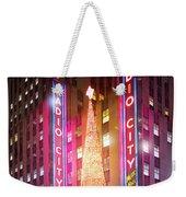 A Radio City Music Hall Christmas Weekender Tote Bag