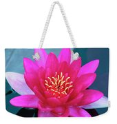A Red And Yellow Water Lily Flower Weekender Tote Bag