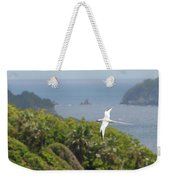 A Red-billed Tropicbird (phaethon Weekender Tote Bag by John Edwards