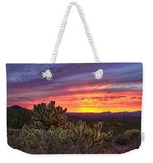 A Red Hot Desert Sunset Weekender Tote Bag