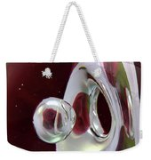 A Reflected Red Rose Weekender Tote Bag