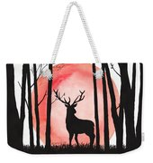 A Reindeer In The Woods Weekender Tote Bag