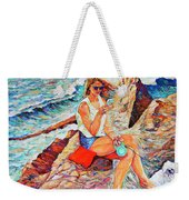 A Relaxing Moment Weekender Tote Bag