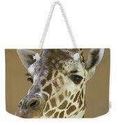 A Reticulated Giraffe Makes A Slanted Weekender Tote Bag