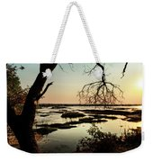 A River Sunset In Botswana Weekender Tote Bag