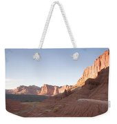 A Road Snakes Through The Parks Cliffs Weekender Tote Bag
