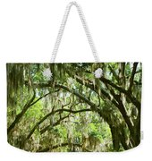 A Road To The Inside Just Outside Of Savannah Weekender Tote Bag
