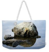 A Rock In Still Water Weekender Tote Bag