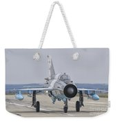 A Romanian Air Force Mig-21c Taxiing Weekender Tote Bag
