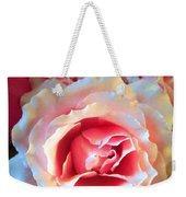 A Romantic Pink Rose Weekender Tote Bag