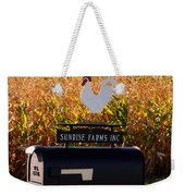 A Rooster Above A Mailbox 1 Weekender Tote Bag