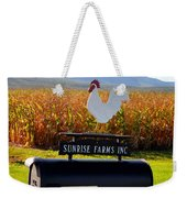 A Rooster Above A Mailbox 2 Weekender Tote Bag