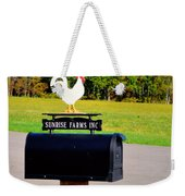 A Rooster Above A Mailbox 3 Weekender Tote Bag