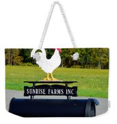 A Rooster Above A Mailbox 4 Weekender Tote Bag