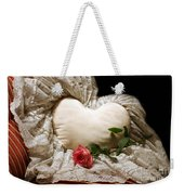 A Rose And A Heart Weekender Tote Bag