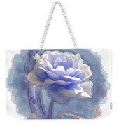 A Rose In Pastel Blue Weekender Tote Bag