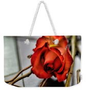 A Rose On Bamboo Weekender Tote Bag