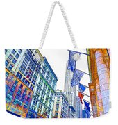 A Row Of Flags In The City Of New York 1 Weekender Tote Bag
