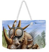 A Rubeosaurus And His Offspring Weekender Tote Bag