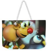 A Rudolph The Red Nosed Reindeer Ornament With A Penguin Weekender Tote Bag