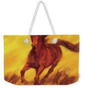 A Running Horse Weekender Tote Bag