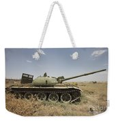 A Russian T-62 Main Battle Tank Rests Weekender Tote Bag