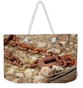 A Rusty Chain And Hook Weekender Tote Bag
