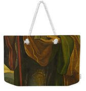 A Saint With A Fortress And A Banner Weekender Tote Bag