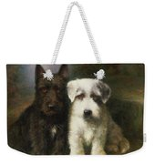 A Scottish And A Sealyham Terrier Weekender Tote Bag