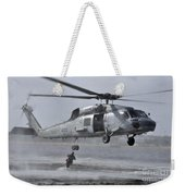 A Search And Rescue Swimmer Jumps Weekender Tote Bag