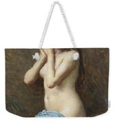 A Seated Nude With A Blue Drape Weekender Tote Bag