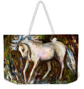 A Secret Place White Hores Painting Weekender Tote Bag