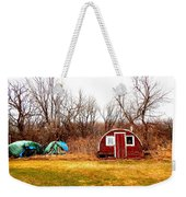A Shack And Two Stacks Weekender Tote Bag