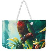 A Shady Spot - St. Lucia Parrot Weekender Tote Bag