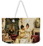 A Shared Confidence Weekender Tote Bag by Joseph Frederick Charles Soulacroix